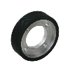 Delivery slowdown band friction wheel