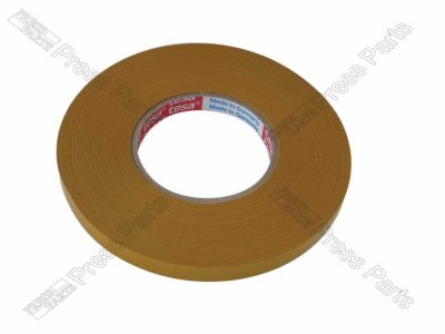 Double sided tape for refixing rules