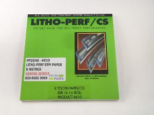 Litho-Perf centre series 8tpi 6m paper