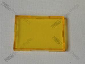 Yellow Lens for rectangular switch or signal lamp