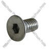 Coater blade screw